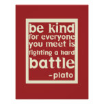 Sea poster inspirado bueno de las palabras - rojo