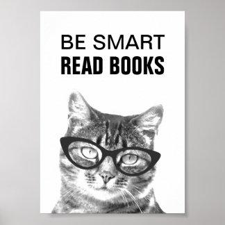 Sea poster leído elegante de los libros con la