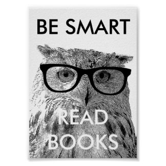 Sea poster leído elegante de los libros con la fot
