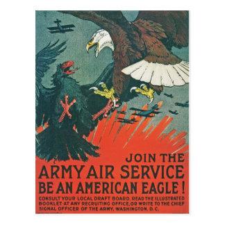 """""""Sea poster RESTAURADO del aire del ejército de Postal"""