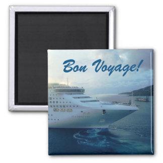 Sea Princess Bon Voyage 2 Inch Square Magnet