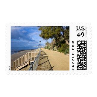 Sea Promenade along Costa del Sol in Spain Postage