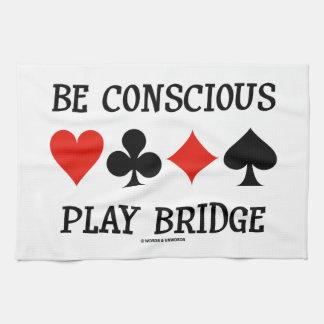 Sea puente consciente del juego (cuatro juegos de toalla de cocina