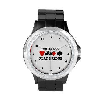 Sea puente estoico del juego (cuatro juegos de la relojes de pulsera