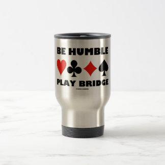Sea puente humilde del juego (cuatro juegos de la taza de viaje de acero inoxidable