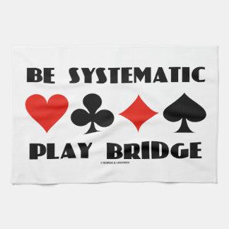 Sea puente sistemático del juego (cuatro juegos de toalla