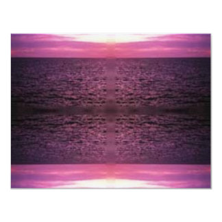 """sea_purpleglitter_dot_com_006 4.25"""" x 5.5"""" invitation card"""