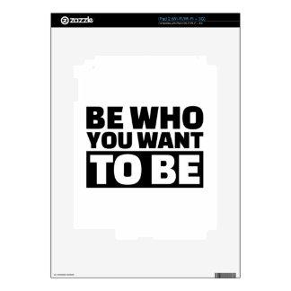 Sea quién usted quiere para ser iPad 2 calcomanías
