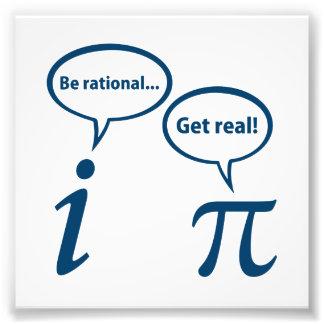 Sea racional consiguen la matemáticas imaginaria r impresiones fotograficas