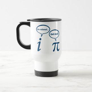 Sea racional consiguen la matemáticas imaginaria taza de viaje