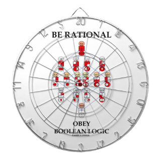 Sea racional obedecen la lógica boleana (el tabla dardos