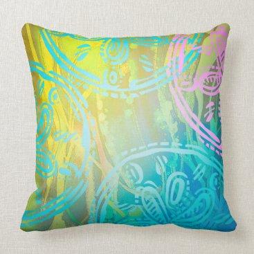 """Beach Themed Sea rainbow Throw Pillow 20"""" x 20"""""""