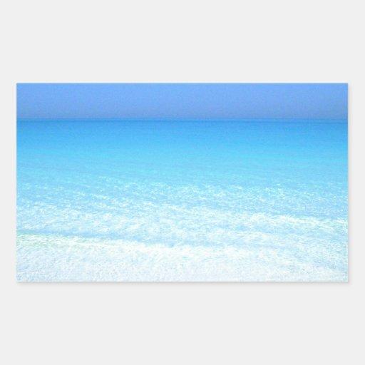 sea rectangular sticker