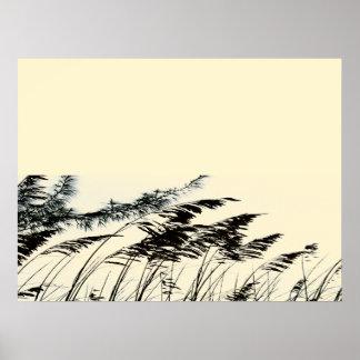 Sea Reeds Poster