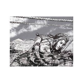 Sea Rescue design for wrapped canvas