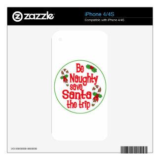 sea reserva traviesa Santa navidad de un viaje iPhone 4S Skins