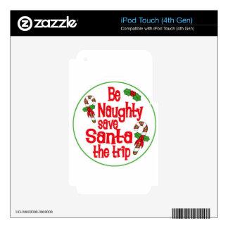 sea reserva traviesa Santa navidad de un viaje iPod Touch 4G Calcomanía