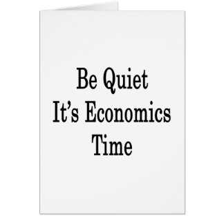 Sea reservado él es tiempo de la economía tarjeta pequeña