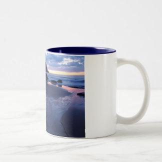 sea rock Two-Tone coffee mug