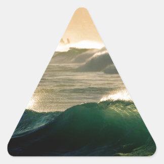 Sea Roll Tide Triangle Sticker