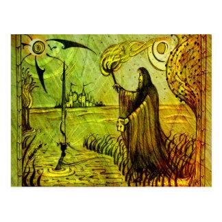 Sea sabio en tarjeta de la naturaleza postales