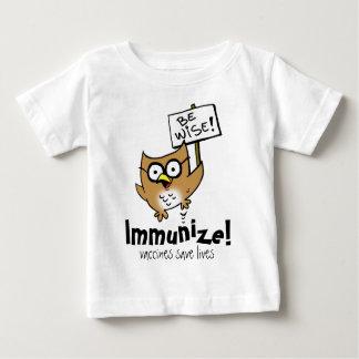 ¡Sea sabio! ¡Inmunice! Playera De Bebé