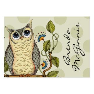 Sea sabio - negocio/tarjeta de la mamá tarjetas de visita grandes