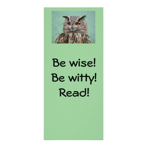 ¡Sea sabio! ¡Sea ingenioso! ¡Lea! Señal Tarjeta Publicitaria