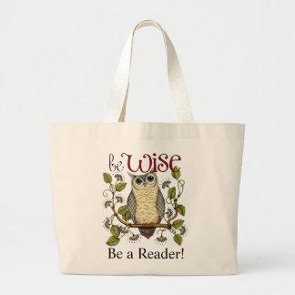 Sea sabio - sea una bolsa de libros del lector