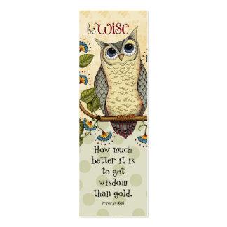 Sea sabio - señal tarjetas de visita mini