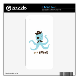 Sea Sailor Decal For iPhone 4