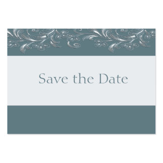 Sea Salt Blue Tropical Vines Save The Date Cards