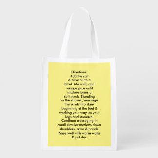 Sea Salt Body Scrub Reusable bags. Reusable Grocery Bag