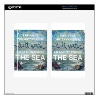 Sea Salt Water   Beach Ocean Skin For Kindle Fire