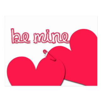 Sea saludo moderno del el día de San Valentín de Postales
