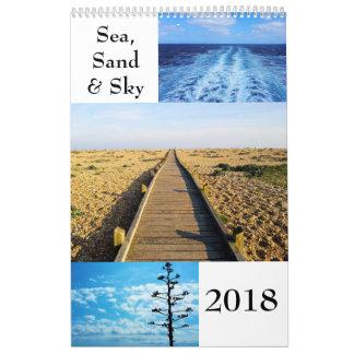 Sea, Sand and Sky 2018 Wall Calendar