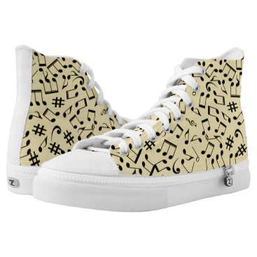 Beach Themed Sea & Sand ~ Beach Party Time ~ Music ~  Swimming~ High-Top Sneakers