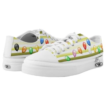 Beach Themed Sea & Sand ~ Beach Party Time ~ Music ~ Swimming ~ Low-Top Sneakers