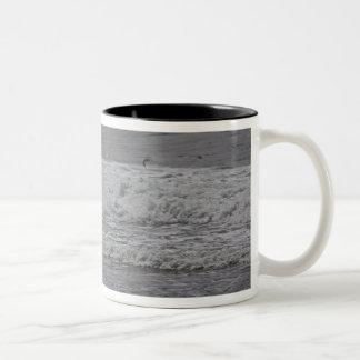 Sea & Sand Pipers! Two-Tone Coffee Mug