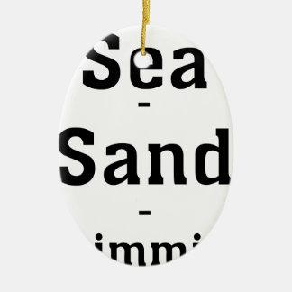 Sea - Sand - Swimming Ceramic Ornament