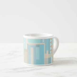 Sea & sand tones abstract pattern espresso mug