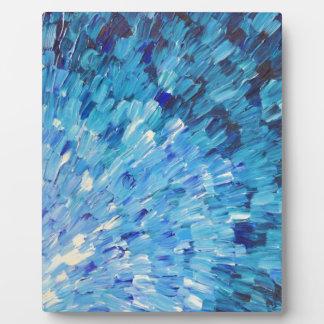 SEA SCALES IN INDIGO - Stunning Ocean Waves Blue Plaque