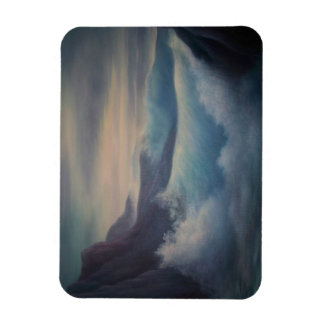 Sea scape, abstract, waves rectangular photo magnet