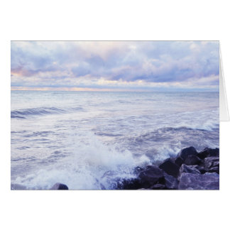 Sea Scape at Mornings Dawn Card