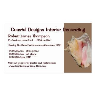 Sea Seashell Beach Theme Business Card Template