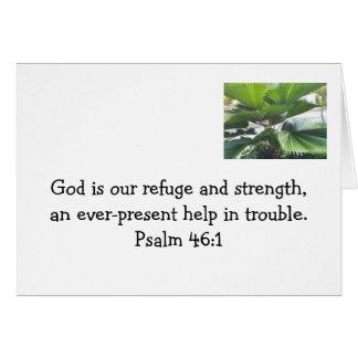 Sea seguro en los brazos de dios tarjeta pequeña