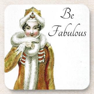 Sea señora de lujo fabulosa de Ackerman Posavasos