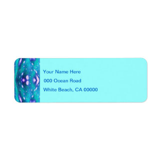 Sea Serpent Abstract Label