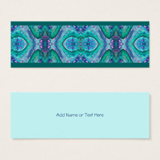 Sea Serpent Abstract Mini Business Card