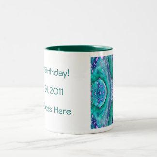 Sea Serpent Abstract Coffee Mug